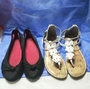 Other - Girls sandals flats 2 pairs size 4